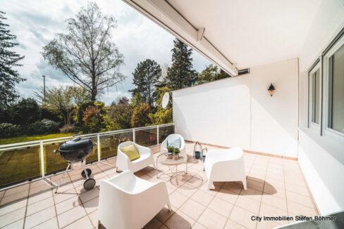 Terrasse mit herrlichem Blick